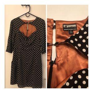 Black and White polka dot dress.